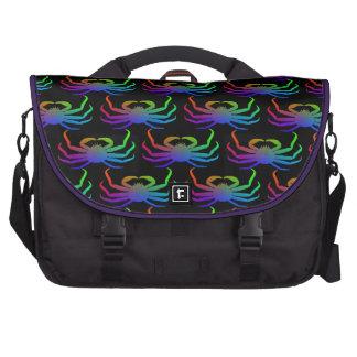 Chionoecetes Opilio Crab Silhouette Laptop Messenger Bag