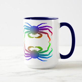 Chionoecetes Opilio Crab Silhouette Mug