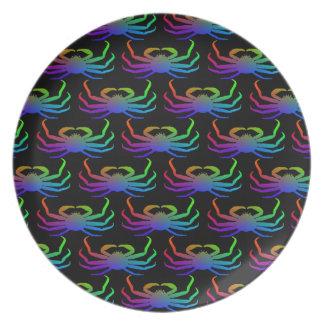 Chionoecetes Opilio Crab Silhouette Plates