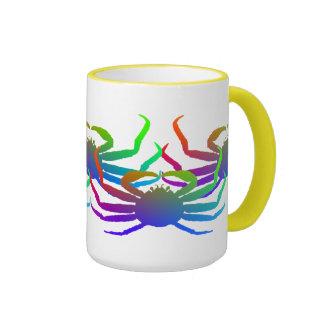 Chionoecetes Opilio Crab Silhouette Ringer Mug