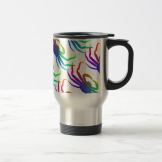 Chionoecetes Opilio Crab Silhouette Stainless Steel Travel Mug