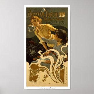Chiozza e Turchi Italian Soap Label Poster