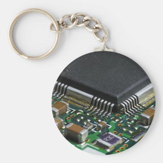 Chip Basic Round Button Key Ring