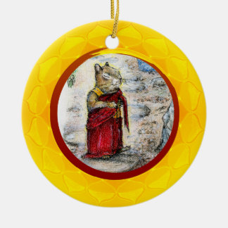 CHIP THE MONK ROUND CERAMIC DECORATION