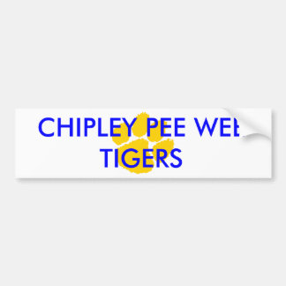 Chipley Pee Wee Football and Cheerleading Fan and Bumper Sticker