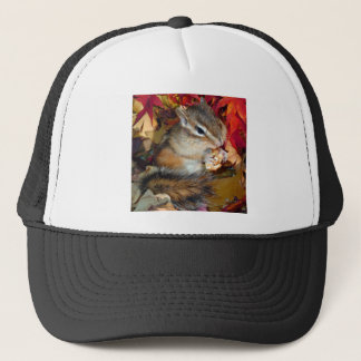 Chipmunk and Autumn (8) photo Trucker Hat