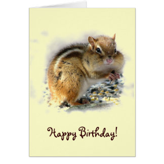 Chipmunk Birthday Card