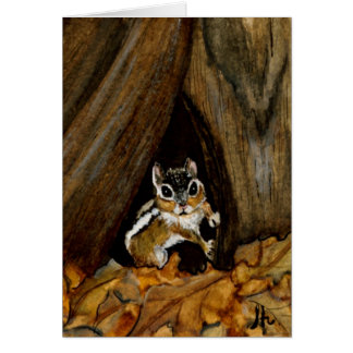 Chipmunk Blank Greeting Card