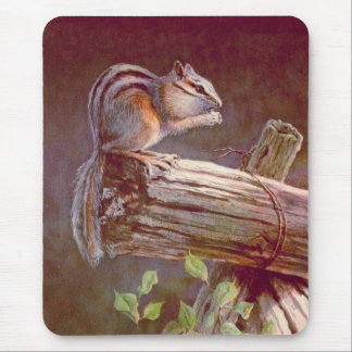 CHIPMUNK by SHARON SHARPE Mouse Pad