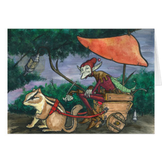 """Chipmunk Cart"" Faerie Card"