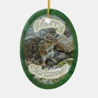 Chipmunk  Christmas Ornament