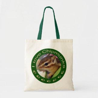 Chipmunk_ Circle_3 Tote Bag