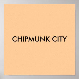 CHIPMUNK CITY POSTER