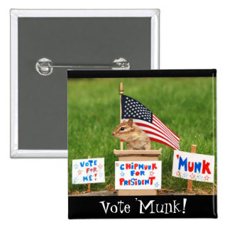 Chipmunk for President Square Button