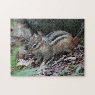 Chipmunk foraging jigsaw puzzle