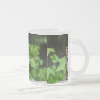 Chipmunk In South Lake Tahoe Frosted Glass Mug