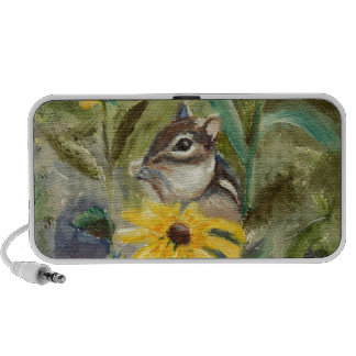 Chipmunk In the Garden iPod Speaker