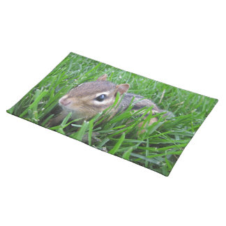 Chipmunk In The Grass Place Mats