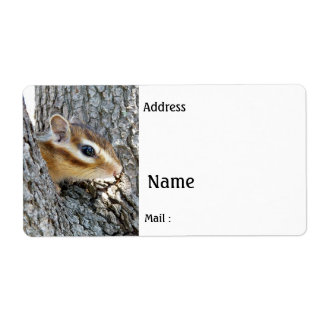 Chipmunk ,  Label Shipping Label