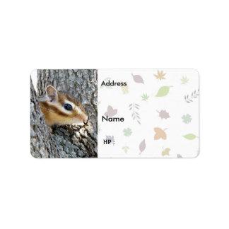 Chipmunk ,  Label Address Label