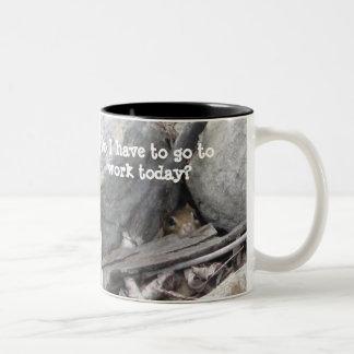 Chipmunk Two-Tone Coffee Mug
