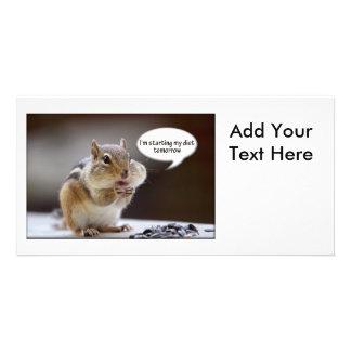 Chipmunk on a Diet Photo Photo Card Template