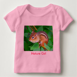 Chipmunk onsie, Nature Girl Baby T-Shirt
