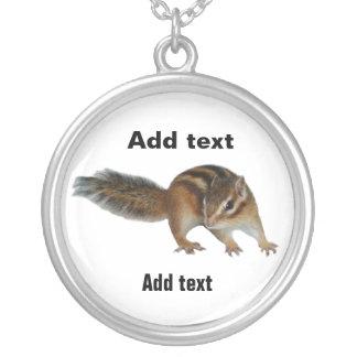 Chipmunk photo (31) round pendant necklace