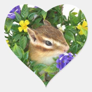 Chipmunk , photo (4) type-3 heart sticker