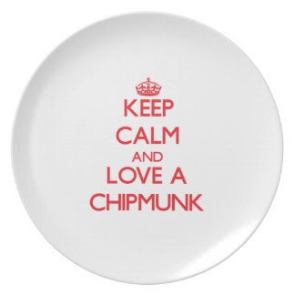 Chipmunk Party Plate