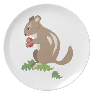 Chipmunk Party Plates