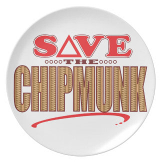 Chipmunk Save Party Plate