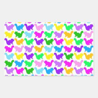 Chipmunk , squirrel , illustration (Colorful) Rectangular Sticker