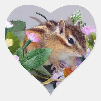 chipmunk , Squirrel ,  photo Heart Sticker