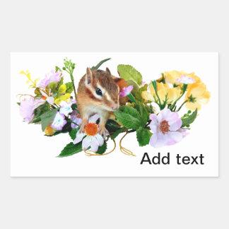 chipmunk , Squirrel ,  photo Rectangular Sticker