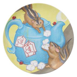 Chipmunk Tea Party Plate