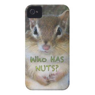 Chipmunk - Who Has Nuts iPhone 4 Cases