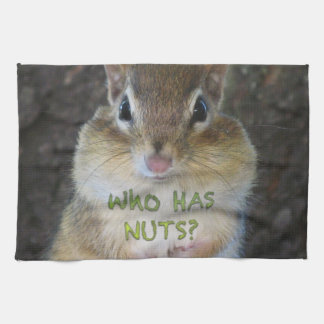 Chipmunk - Who Has Nuts? Hand Towels
