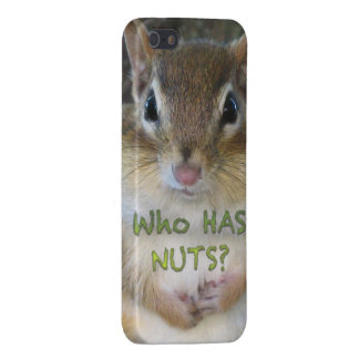 Chipmunk - Who Has Nuts iPhone 5/5S Covers