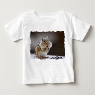 Chipmunk with Cheeks Full Photo Baby T-Shirt