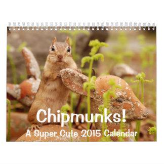 Chipmunks! A Super Cute 2015 Wall Calendar