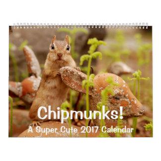Chipmunks! A Super Cute 2017 Wall Calendar