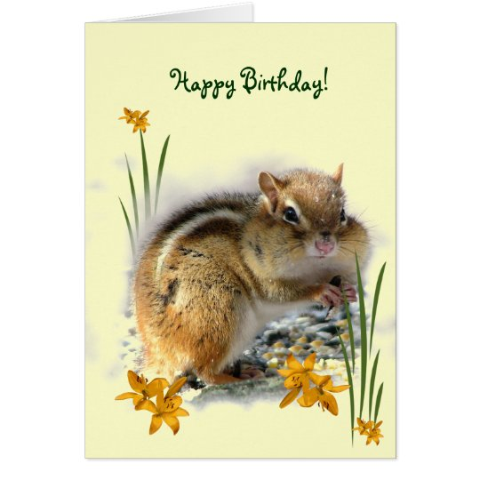 Chipmunk's Birthday Card