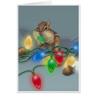 Chipmunk's Bright Idea Greeting Card