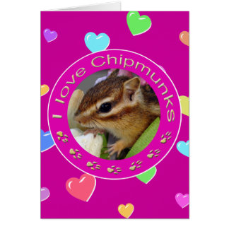 chipmunks card