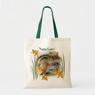 Chipmunk's Easter Canvas Bag