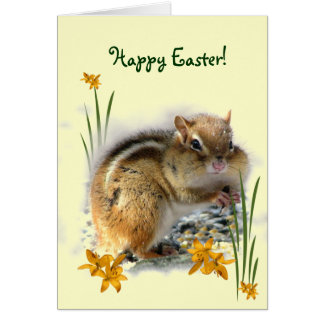 Chipmunk's Easter Card