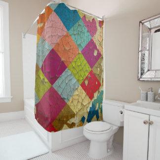 Chipped Diamond Paint Shower Curtain
