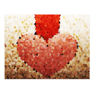 """Chipped Heart"" - Postcard"