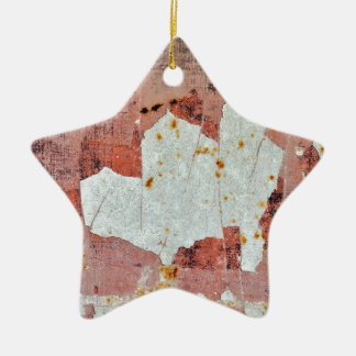 chipped paint rusty metal christmas ornament